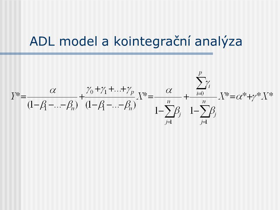 ADL model a kointegrační analýza