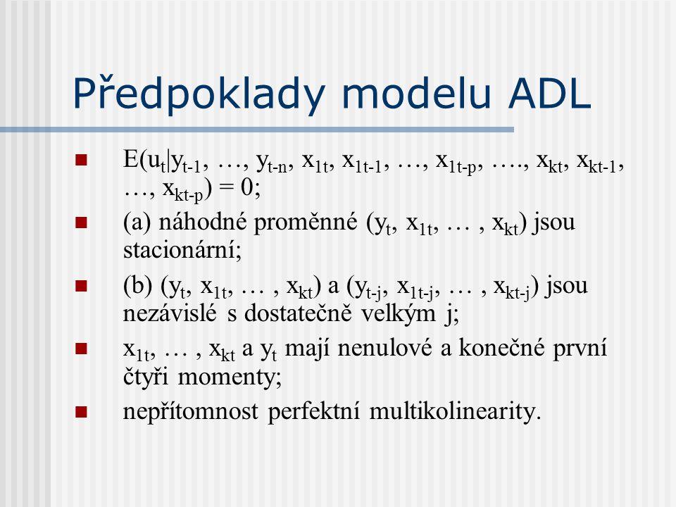 Předpoklady modelu ADL