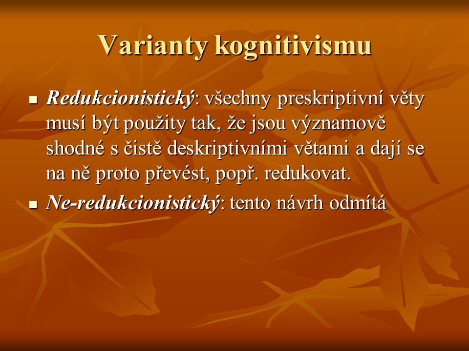 Varianty kognitivismu