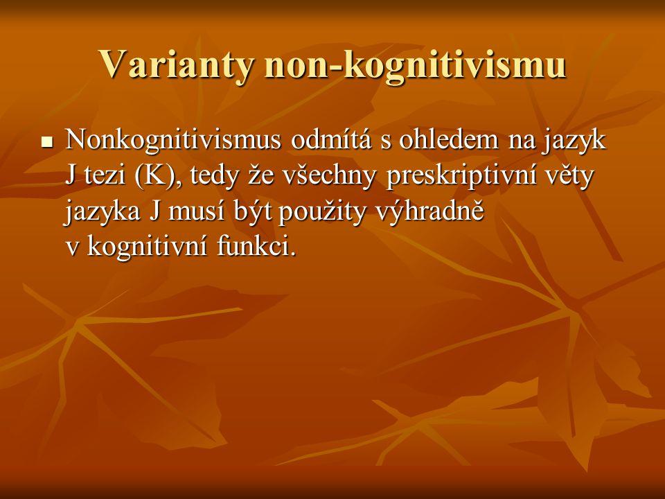 Varianty non-kognitivismu