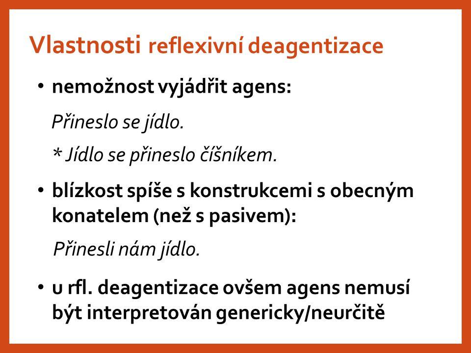 Vlastnosti reflexivní deagentizace