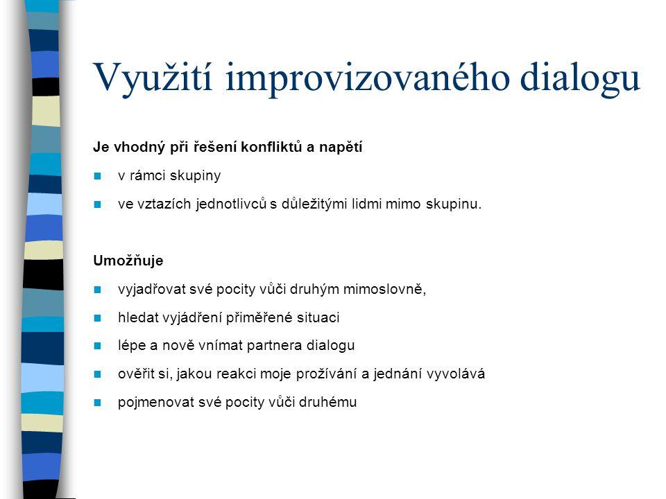 Využití improvizovaného dialogu