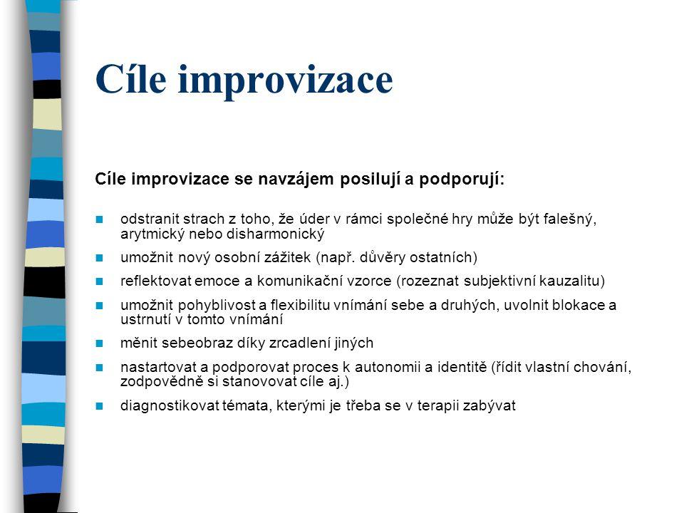 Cíle improvizace Cíle improvizace se navzájem posilují a podporují: