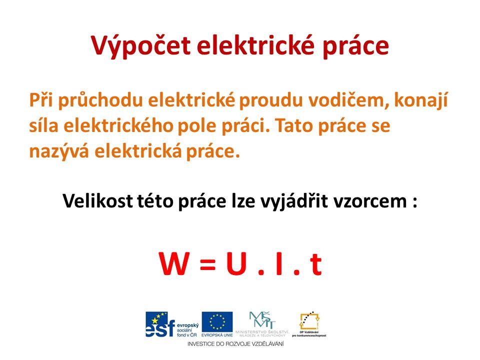 Výpočet elektrické práce