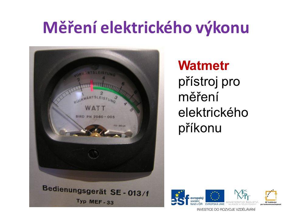 Měření elektrického výkonu