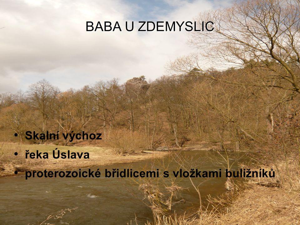 BABA U ZDEMYSLIC Skalní výchoz řeka Úslava