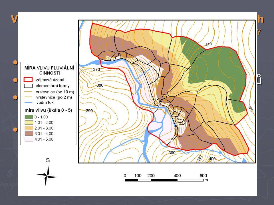 určení hlavních geomorfologických procesů