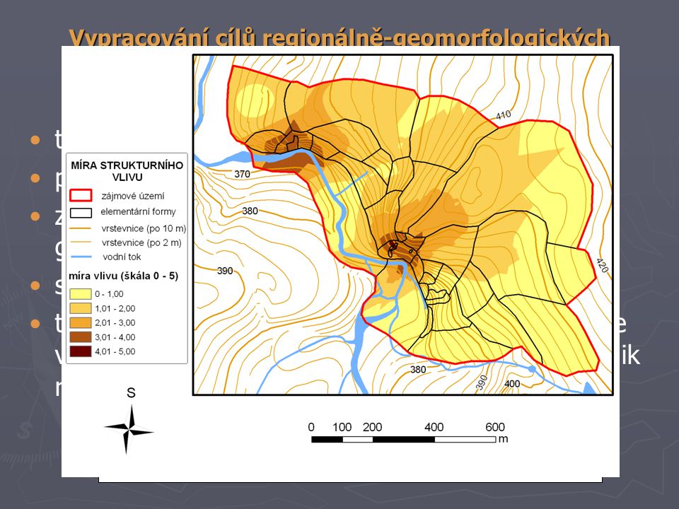 tvorba mapy elementárních forem reliéfu; parciálně-genetické povrchy;
