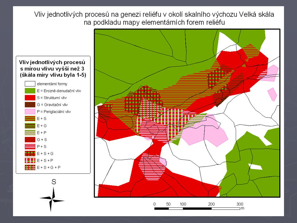Syntetická geomorfologická mapa Radyně