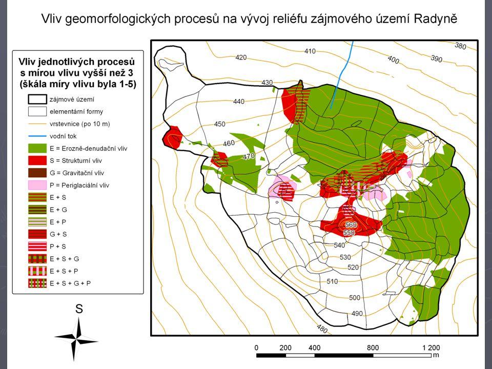 Komplexní geomorfologická mapa Radyně