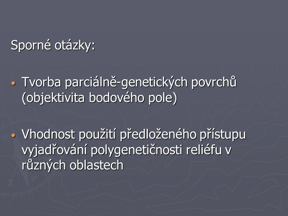 Sporné otázky: Tvorba parciálně-genetických povrchů (objektivita bodového pole)