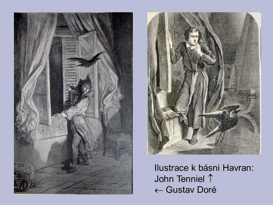 Ilustrace k básni Havran: John Tenniel 