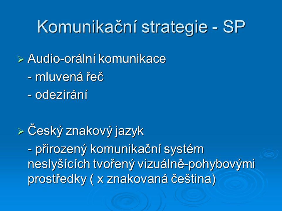 Komunikační strategie - SP
