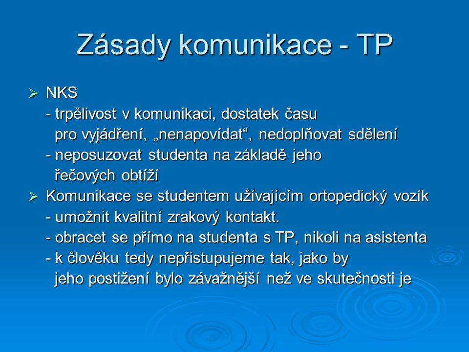 Zásady komunikace - TP NKS - trpělivost v komunikaci, dostatek času