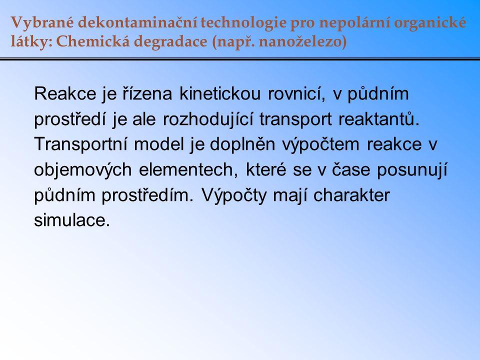 Vybrané dekontaminační technologie pro nepolární organické látky: Chemická degradace (např. nanoželezo)