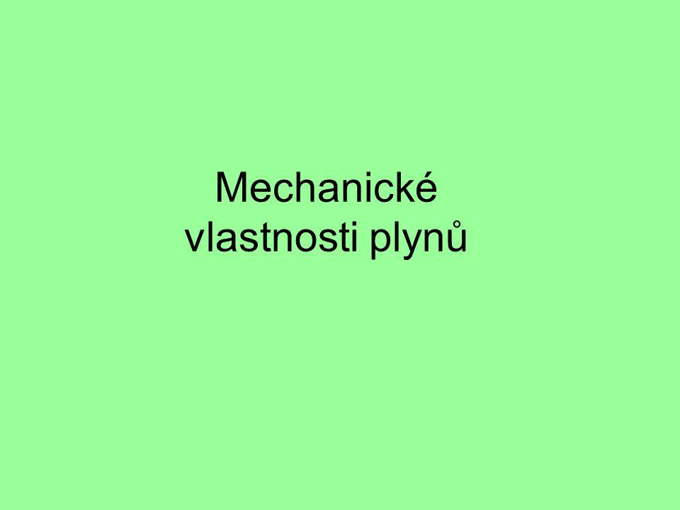 Mechanické vlastnosti plynů