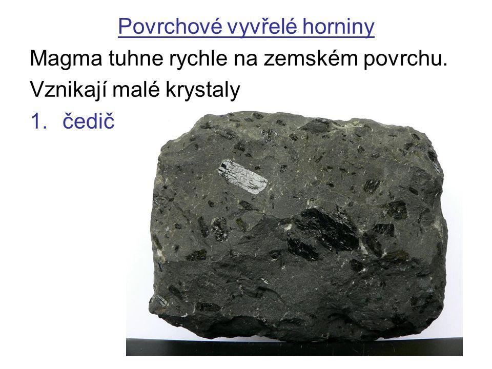 Povrchové vyvřelé horniny