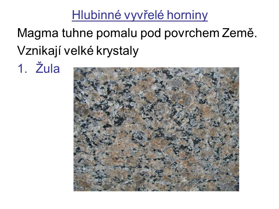 Hlubinné vyvřelé horniny