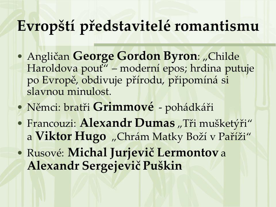Evropští představitelé romantismu