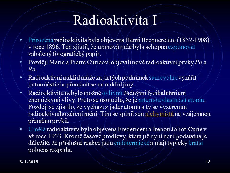 Radioaktivita I