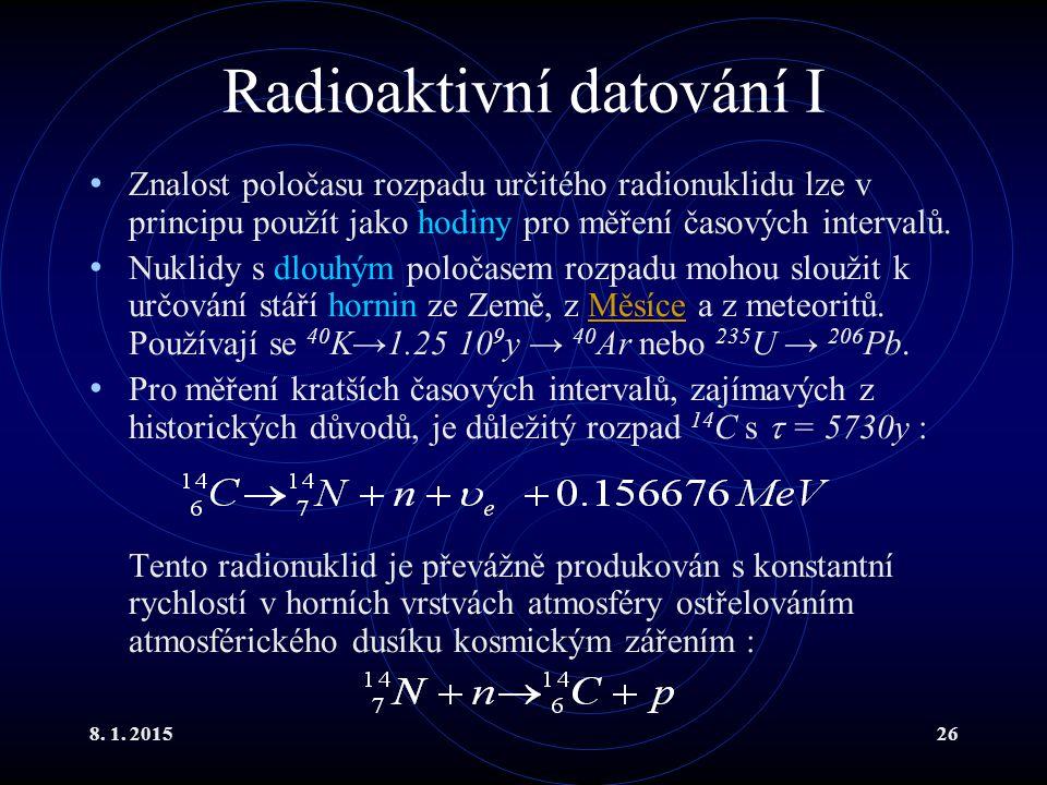 Radioaktivní datování I