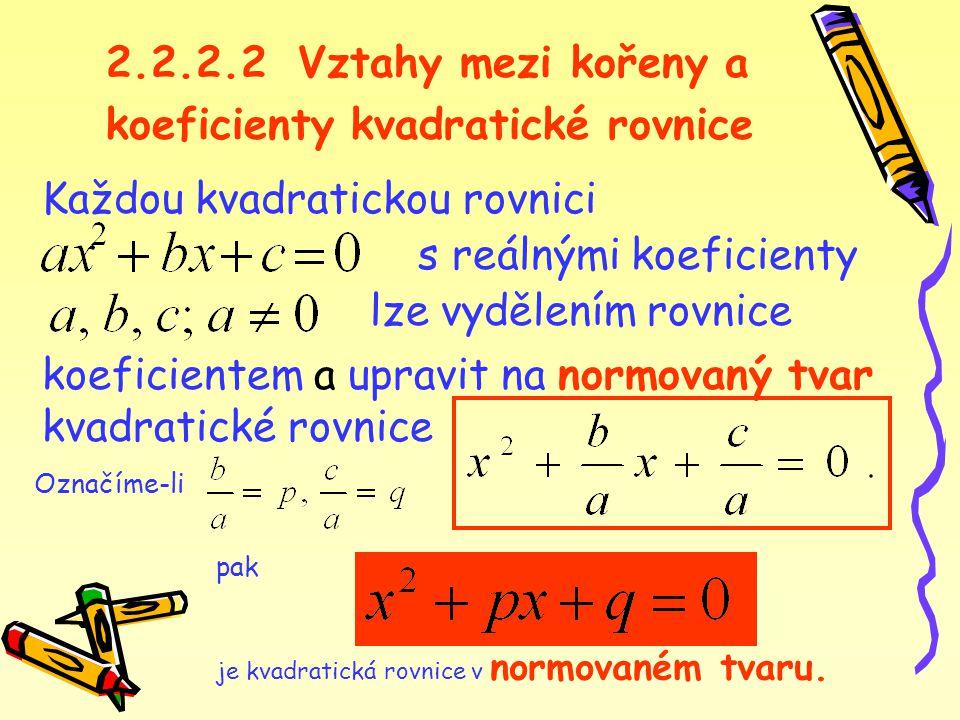 koeficienty kvadratické rovnice
