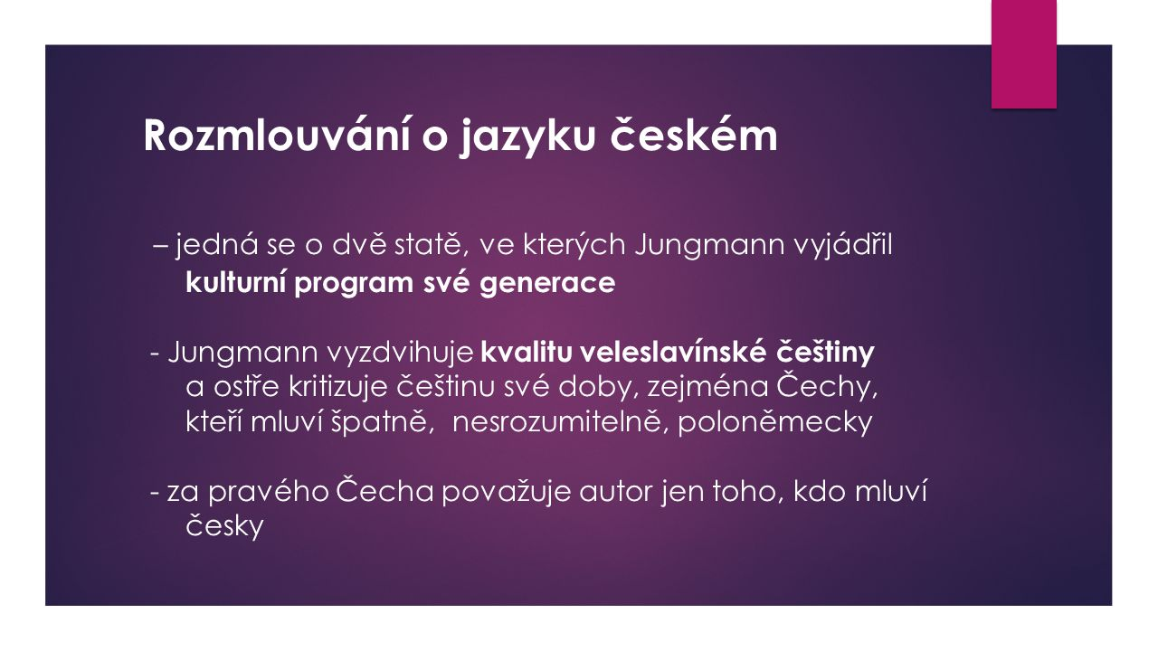 Rozmlouvání o jazyku českém