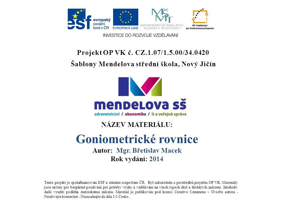 Šablony Mendelova střední škola, Nový Jičín