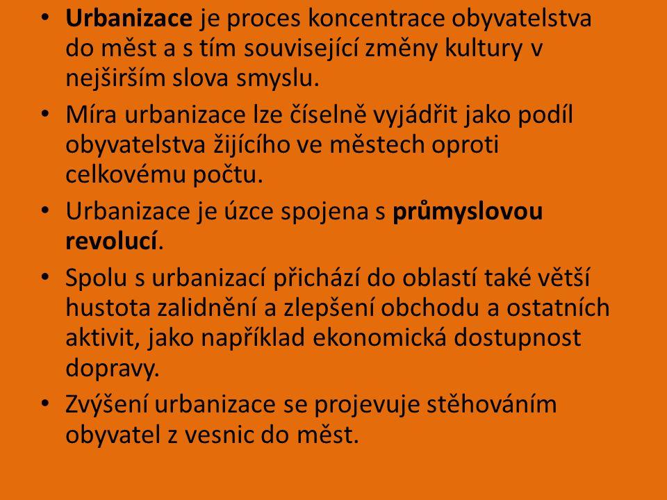 Urbanizace je proces koncentrace obyvatelstva do měst a s tím související změny kultury v nejširším slova smyslu.