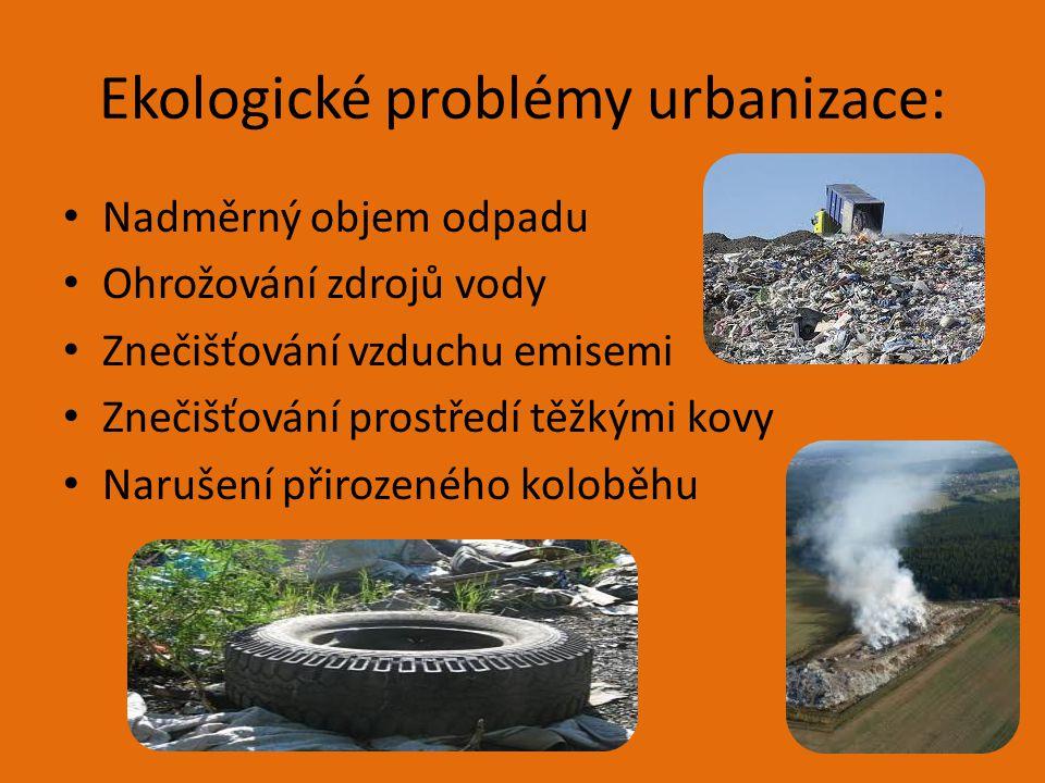 Ekologické problémy urbanizace: