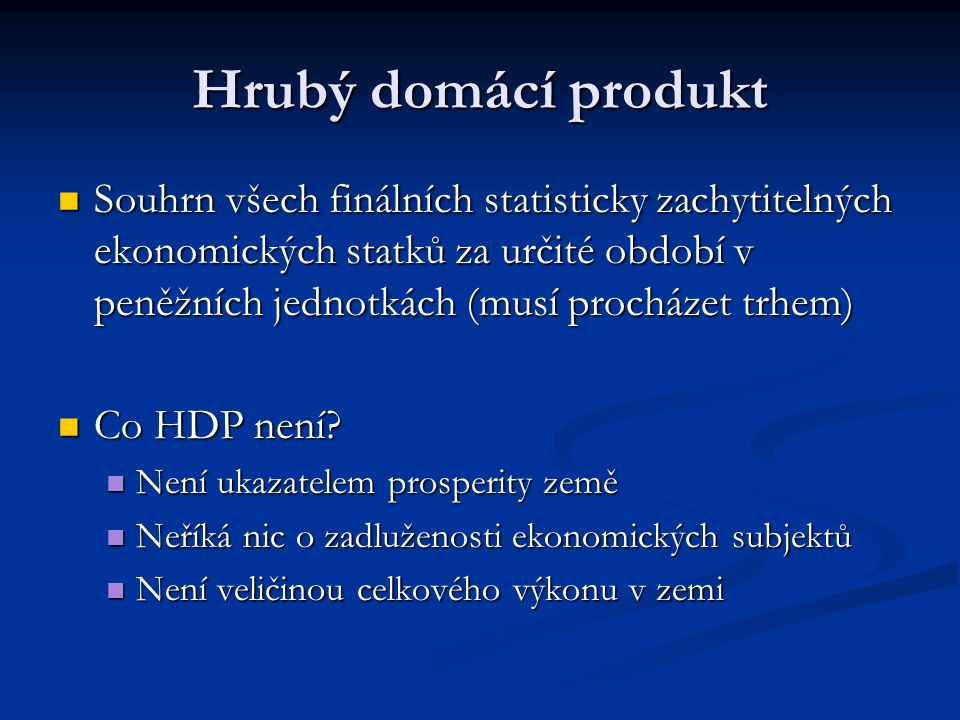 Hrubý domácí produkt