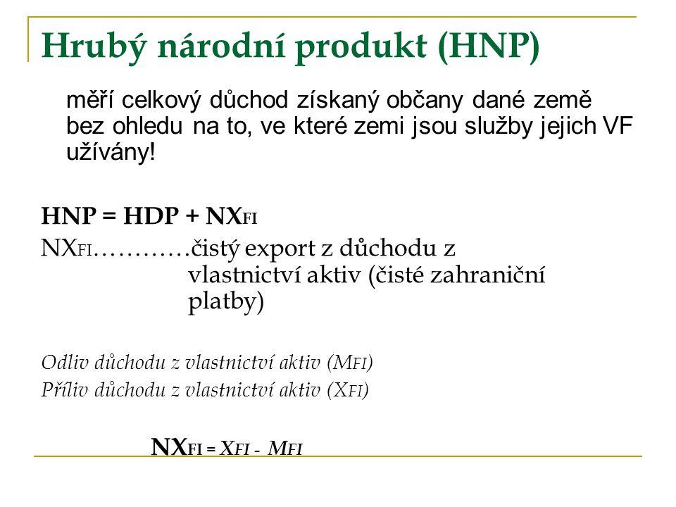 Hrubý národní produkt (HNP)