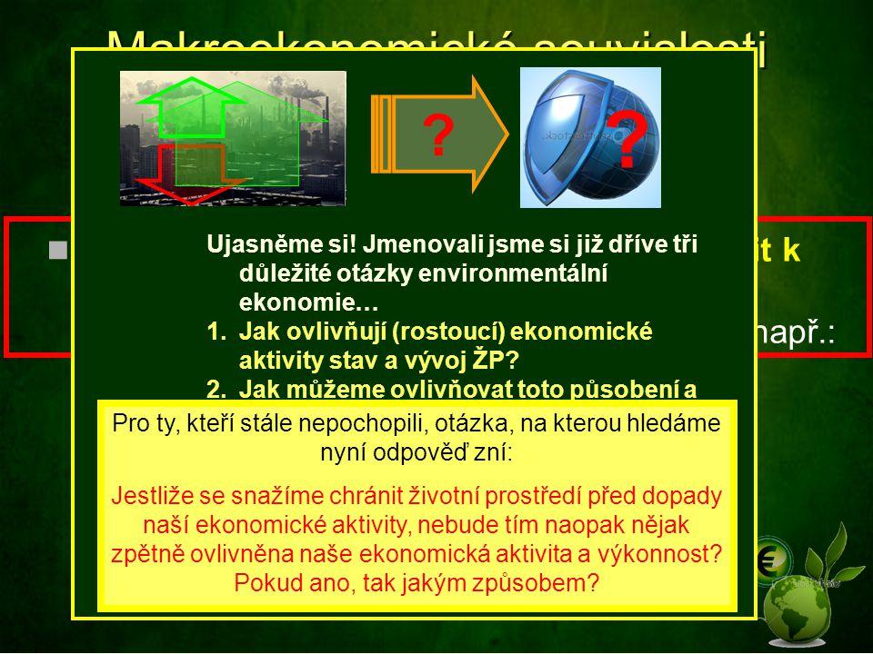 Makroekonomické souvislosti (dopady) ochrany ŽP