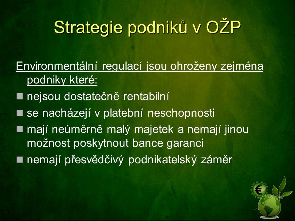 Strategie podniků v OŽP