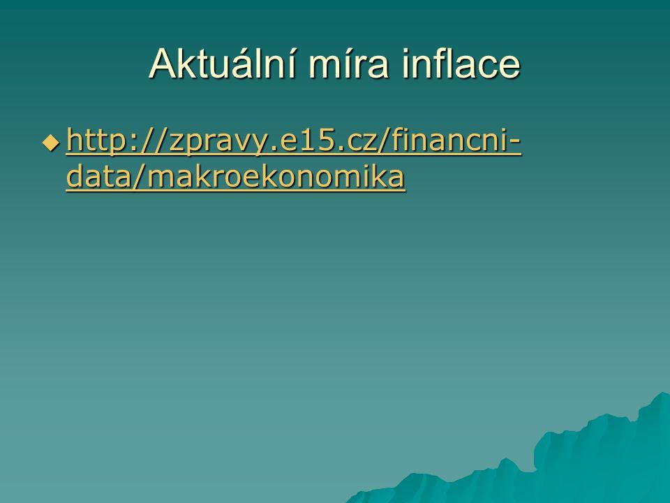 Aktuální míra inflace http://zpravy.e15.cz/financni-data/makroekonomika