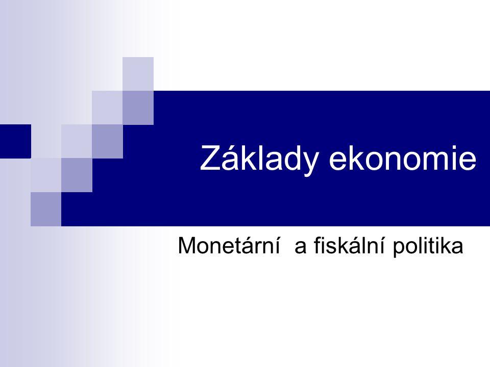 Monetární a fiskální politika