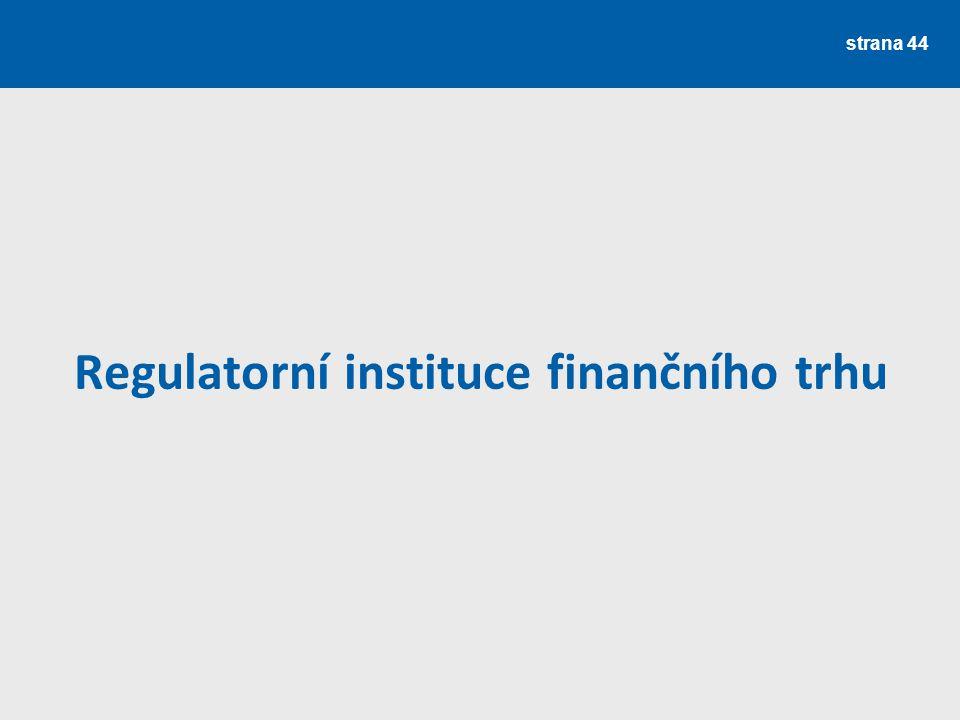 Regulatorní instituce finančního trhu