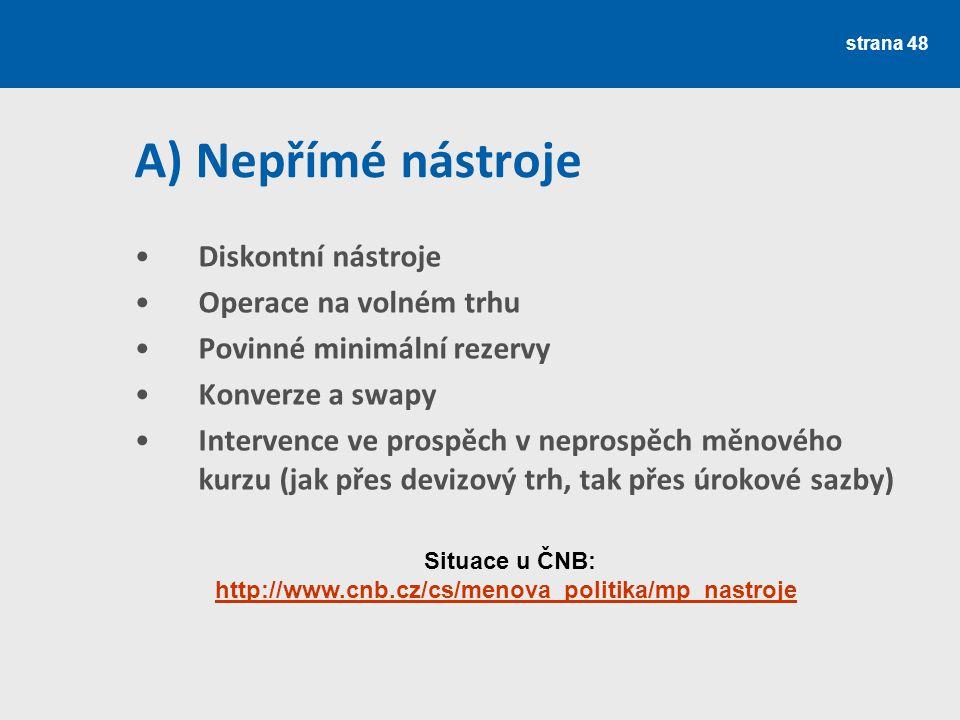Situace u ČNB: http://www.cnb.cz/cs/menova_politika/mp_nastroje