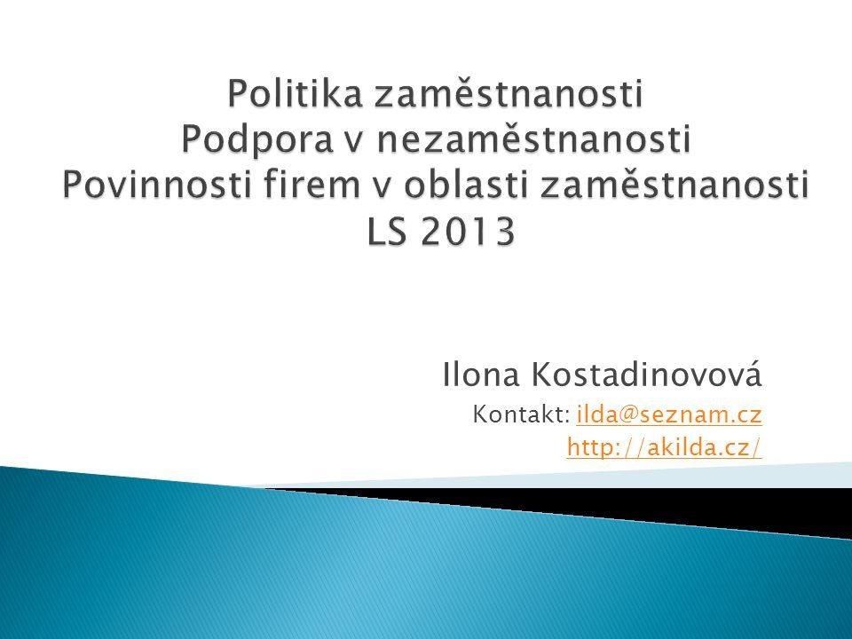 Ilona Kostadinovová Kontakt: ilda@seznam.cz http://akilda.cz/
