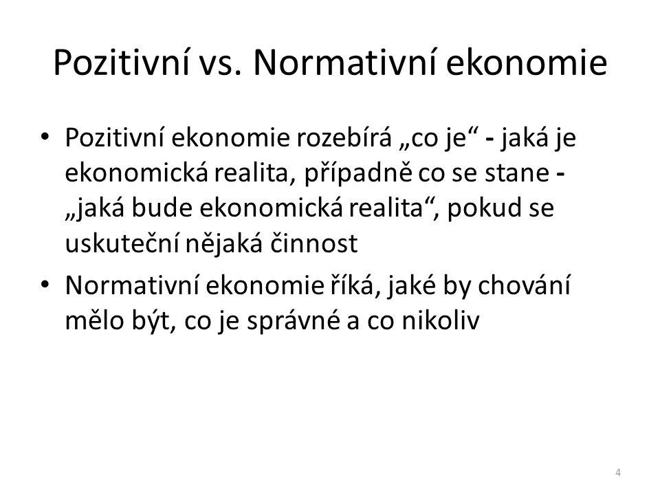Pozitivní vs. Normativní ekonomie