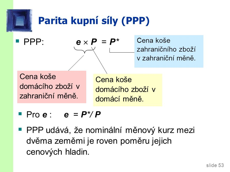Parita kupní síly (PPP)
