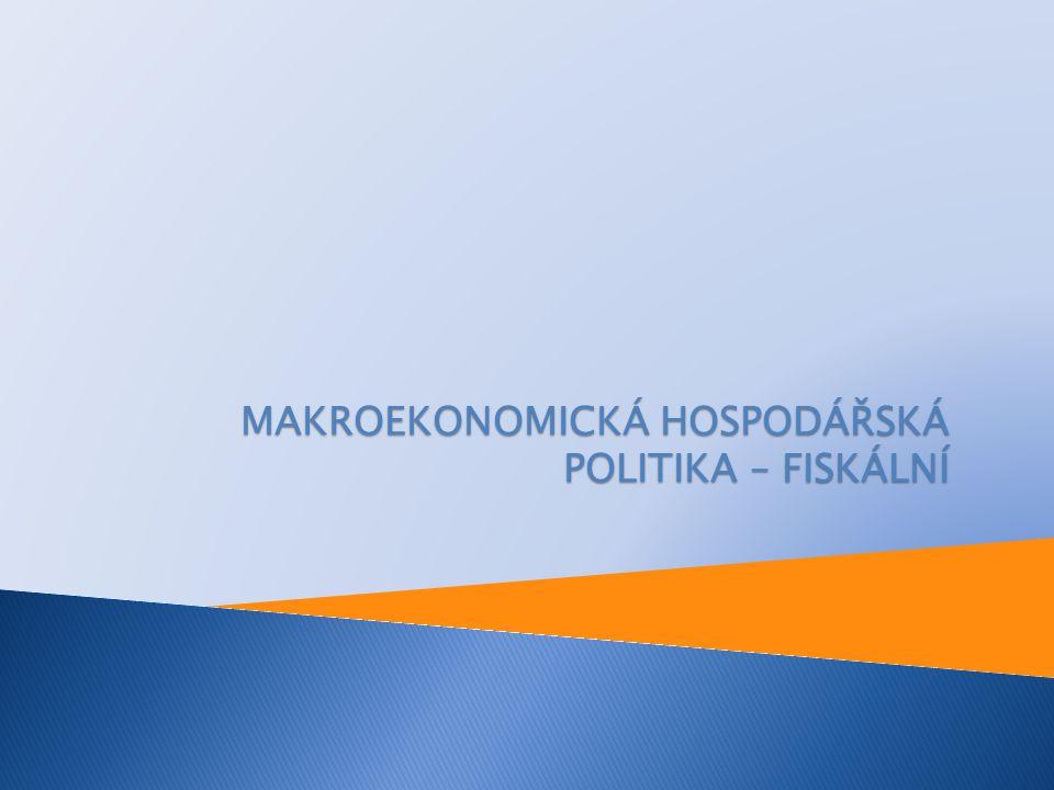 MAKROEKONOMICKÁ HOSPODÁŘSKÁ POLITIKA – FISKÁLNÍ