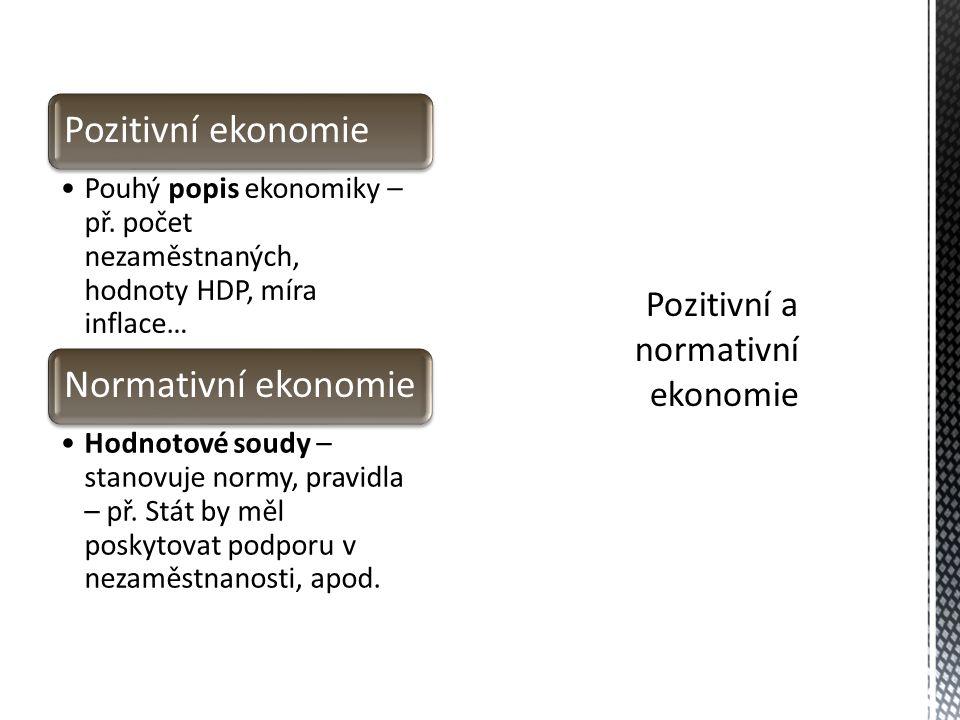 Pozitivní a normativní ekonomie
