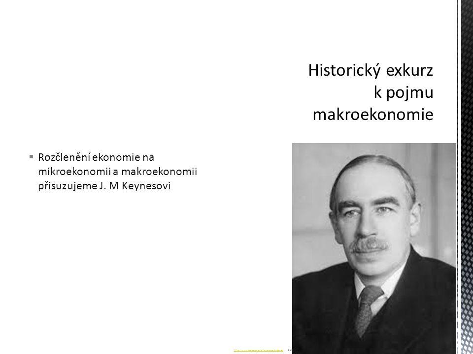 Historický exkurz k pojmu makroekonomie