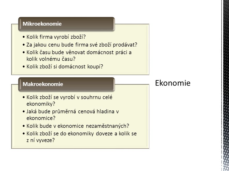 Ekonomie Kolik firma vyrobí zboží
