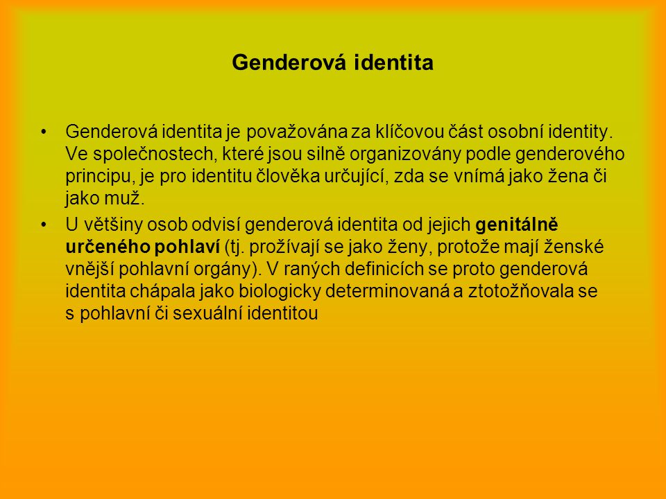 Genderová identita
