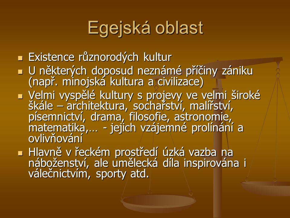 Egejská oblast Existence různorodých kultur