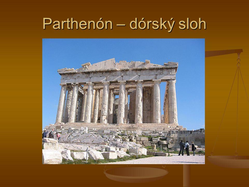 Parthenón – dórský sloh