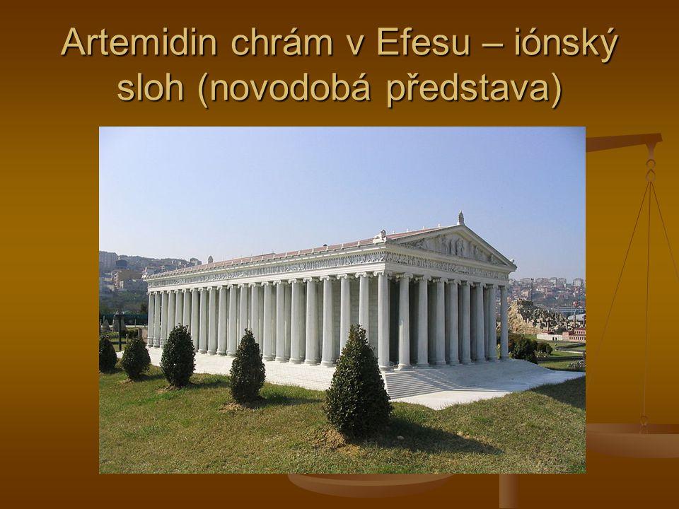 Artemidin chrám v Efesu – iónský sloh (novodobá představa)