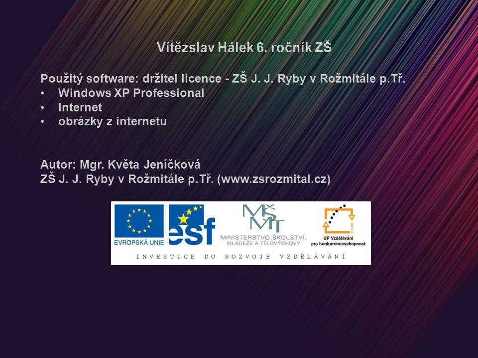 Vítězslav Hálek 6. ročník ZŠ